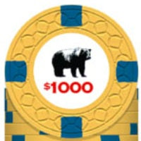 Rounders KGB $1000 Poker Chip Card Guard