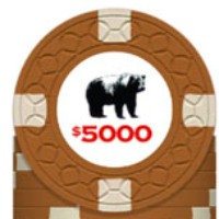 Rounders KGB $5000 Poker Chip Card Guard