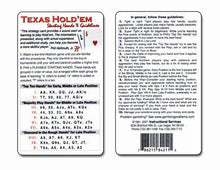 Texas Hold Em Starting Hands & Guidelines Strategy Card