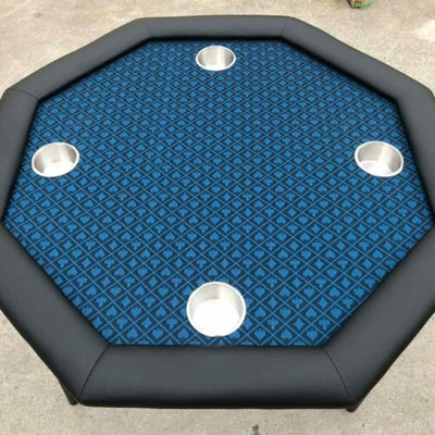 Blue Two-Tone Suited Speed Cloth 100% Polyester Poker Table Felt 120x60