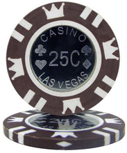 $.25 Cent Brown Coin Inlay 15 Gram - 100 Poker Chips
