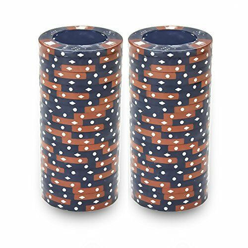 Blue Crown & Dice 14 Gram - 100 Poker Chips