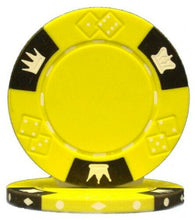 Yellow Crown & Dice 14 Gram - 100 Poker Chips