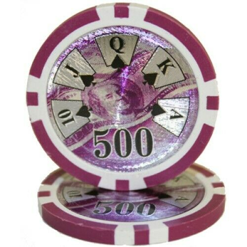 $500 Purple Ben Franklin 14 Gram - 100 Poker Chips