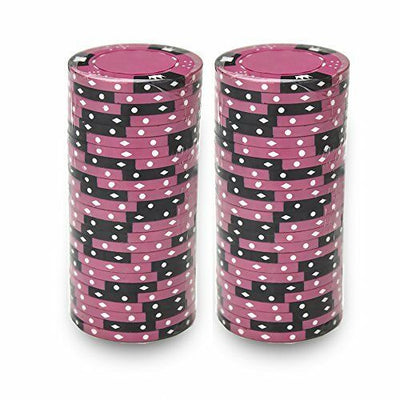 Pink Crown & Dice 14 Gram - 100 Poker Chips