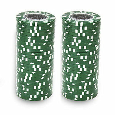 $25 Green Coin Inlay 15 Gram - 100 Poker Chips