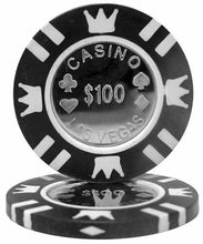 $100 Black Coin Inlay 15 Gram - 100 Poker Chips