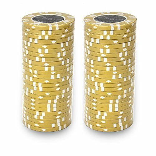 $1000 Yellow Coin Inlay 15 Gram - 100 Poker Chips
