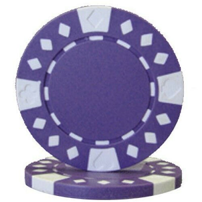 Purple Diamond Suited 12.5 Gram - 100 Poker Chips