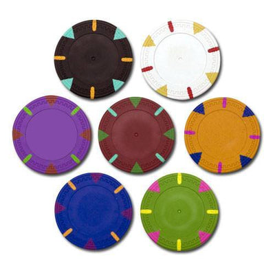 Sample Pack Blank Claysmith Triangle And Stick Poker Chips