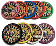 Sample Pack Nevada Jack Skulls Ceramic Poker Chips