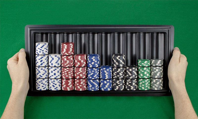 Supplies - 10 Row Plastic Casino Dealer Chip Tray