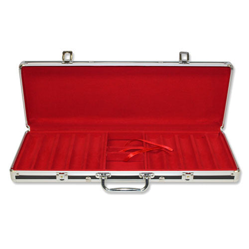 Supplies - 500 Ct Black Red Empty  Aluminum Case