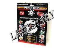 Supplies - Labels Only For The Original Poker Chip Customizer