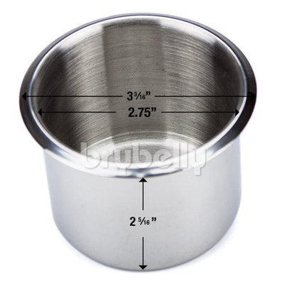 Supplies - Standard Stainless Steel Drop In Cup Holders - 10 Pack