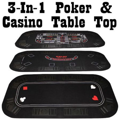 3 in 1 Poker Table Top 63x31 - The Poker Store .Com