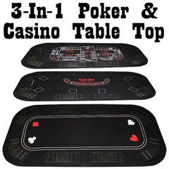3 in 1 Poker Table Top 63x31