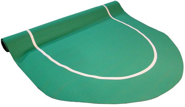 Table - Green Sure Stick Oval Rubber Poker Table Top 70x35