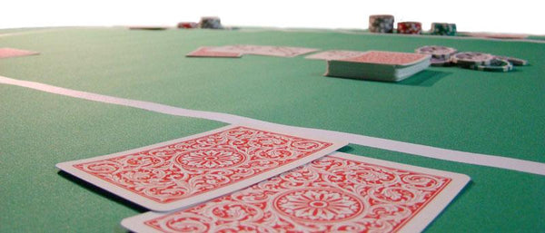 Table - Red Sure Stick Oval Rubber Poker Table Top 70x35