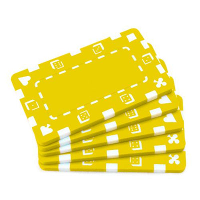 Yellow Poker Plaques - 5 PC