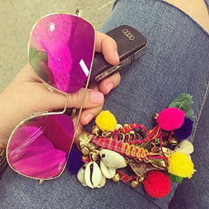 Running Riot Gold & Pink Sunglasses