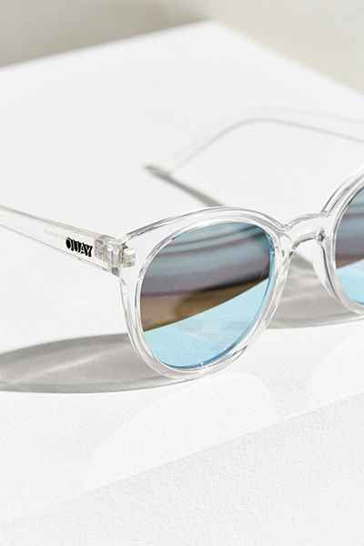 Like Wow Clear & Blue Sunglasses