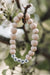 Happy White & Wood Bead Bracelet