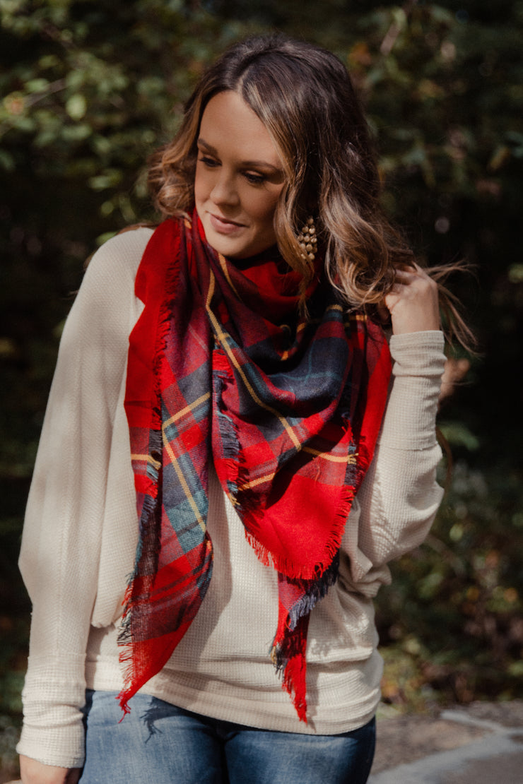 Kennedy Plaid Scarf