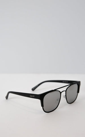 High and Dry Black & Silver Sunglasses