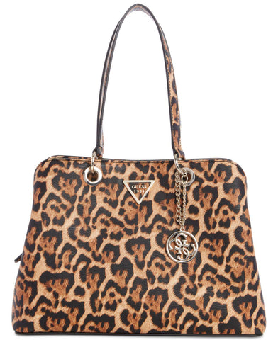 Guess Lauri Leopard Shoulder Bag