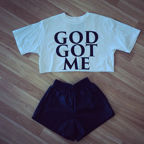Cymonnes  Cymonnes , Faith Tee (God Got Me) Fashion, Tee Shop dress , Tee Shop jeans