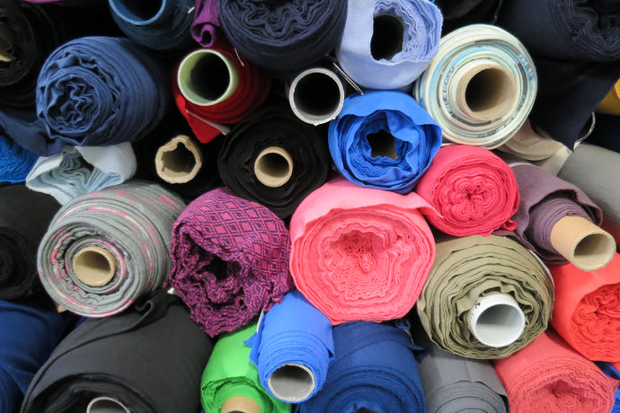 New rolls of fabric have just arrived.