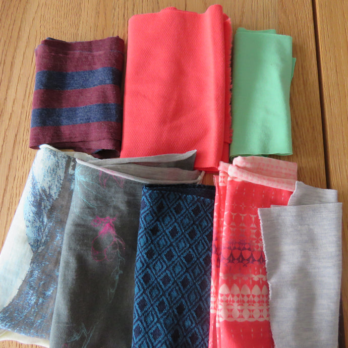 More grab bags of assorted merino fabrics have been added to the sale section