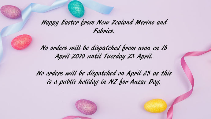 Shipping dates for Easter