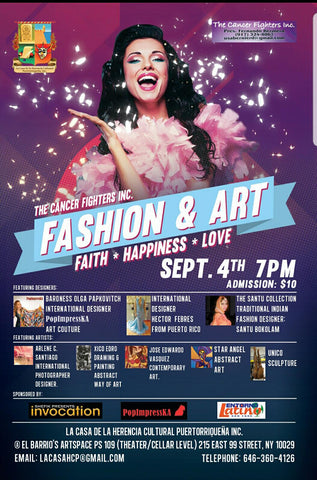 PopImpressKA Journal: The Cancer Fighters Inc. / Where Art Meets Fashion for a Great Cause! NYFW, September 4th, 2018!