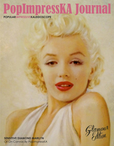 PopImpressKA Journal Sensitive Diamond Marilyn Glamour Edition Volume II