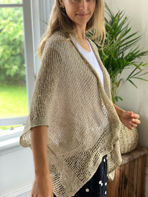 loose knit cardi-natural