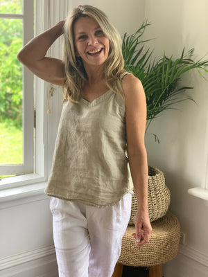 tilly tank-natural linen