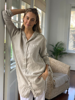 estelle shirt-natural linen