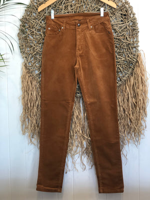 5 pocket corduroy pants-copper