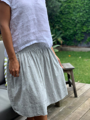 zoe skirt -  grey stripe