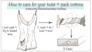 How to care for your twist + pack cottons!
