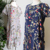 All Pocket Smock Short Sleeve Floral Cotton, Womens Dress, Plus Size Clothing