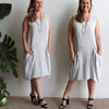 All Seasons Pocket Smock Linen Blend, Womens Dress, Plus Size Clothing