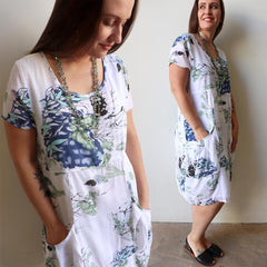 All Seasons Pocket Smock Dress, Women's Dress, Plus Size