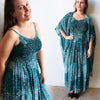 Celia Maxi Sun Dress Paisley Peacock, Womens Dress, Plus Size Clothing, Summer Dress