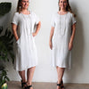 Charlie Shift Dress Linen Blend, Womens Dress, Plus Size Clothing