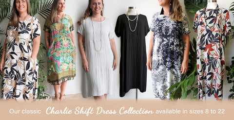Charlie Shift Dress, Womens Dress, Plus Size Clothing,
