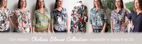 Chelsea Blouse Collection, Womens Blouse, Plus Size Clothing, Kobomo Clothing