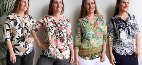 Chelsea Blouse, Womens Blouse, Plus Size Clothing, Summer Blouse